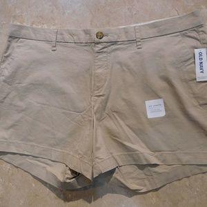 "Old Navy Khaki/ Tan/ Beige Cotton Twill 3.5"" Short"